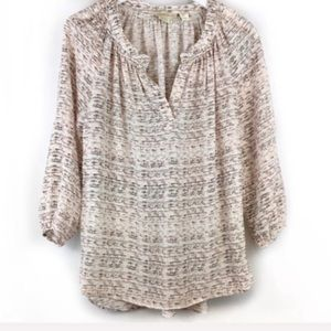Cynthia Rowley Pink Silk Patterned Blouse